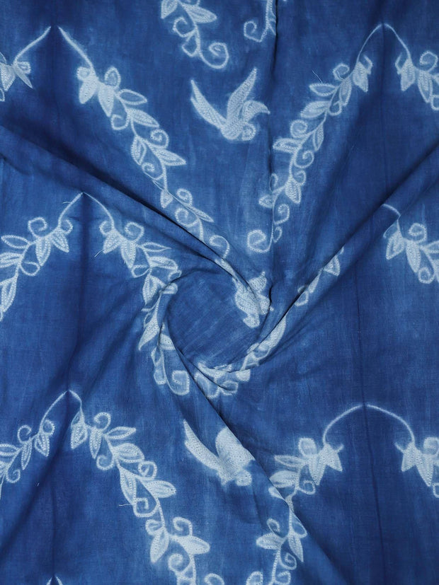 Shibori Hand Block Cotton Fabric