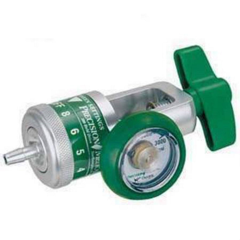 NEW Precision Medical CGA 870 Oxygen Regulator 0-15 LPM Barb Outlet