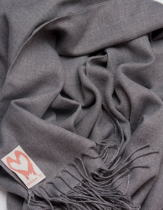 an image showing a close up of a pashmina in French Navy