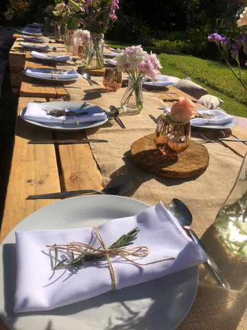 Rosemary and hessian serviettes