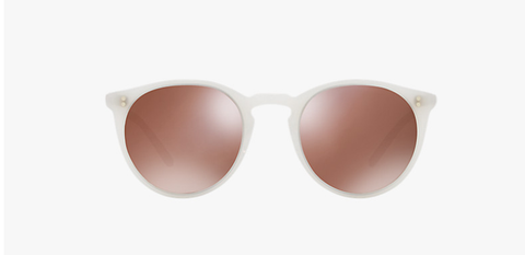 Oliver Peoples O'malley NYC in Ecru + Brown Mirror Gold