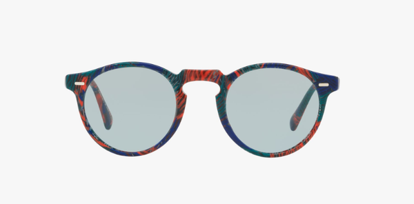 Oliver Peoples Gregory Peck Sun in Palmier Tropical + Light Grey Lens