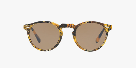 Oliver Peoples Gregory Peck Sun in Palmier Soleil + Brown Lens