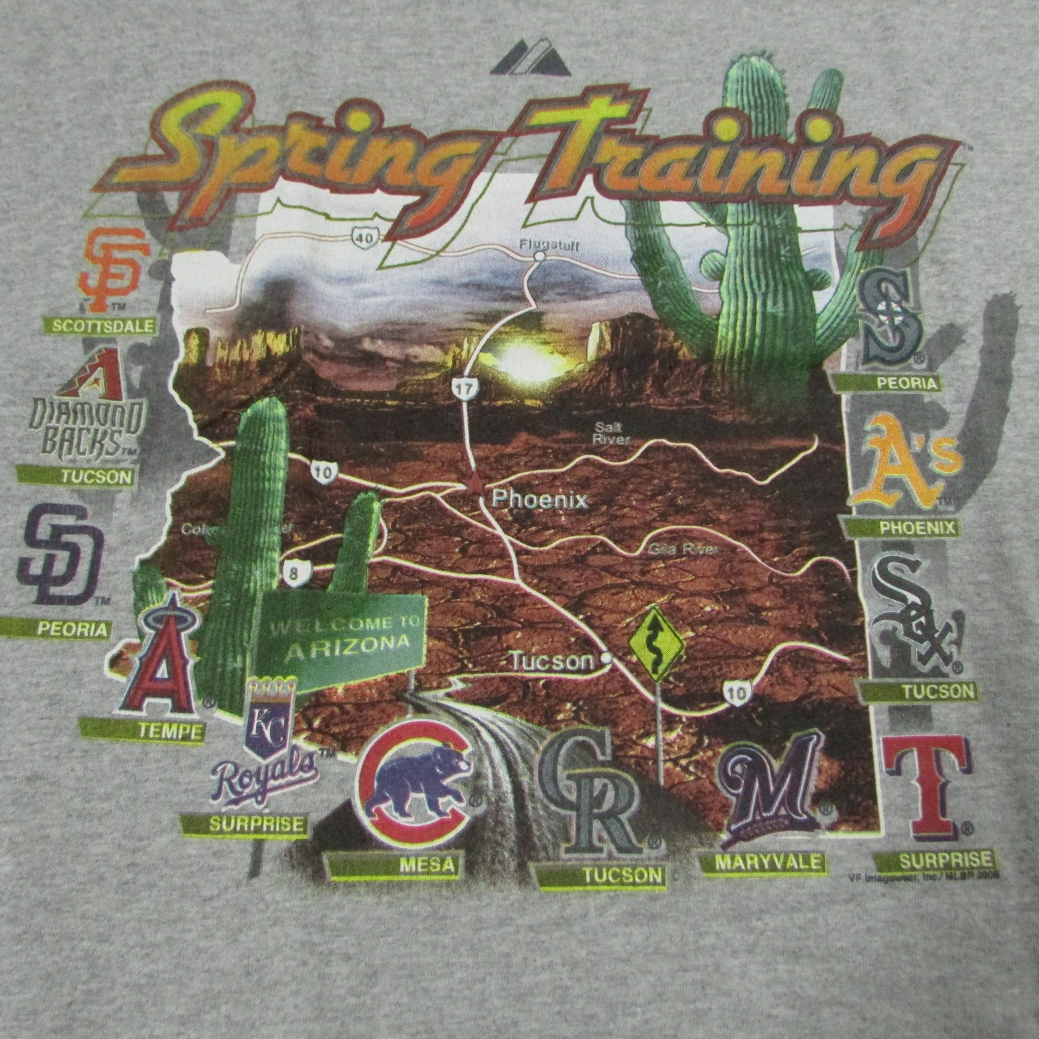 MLB Baseball Spring Training Cactus League T-Shirt Majestic Sz L
