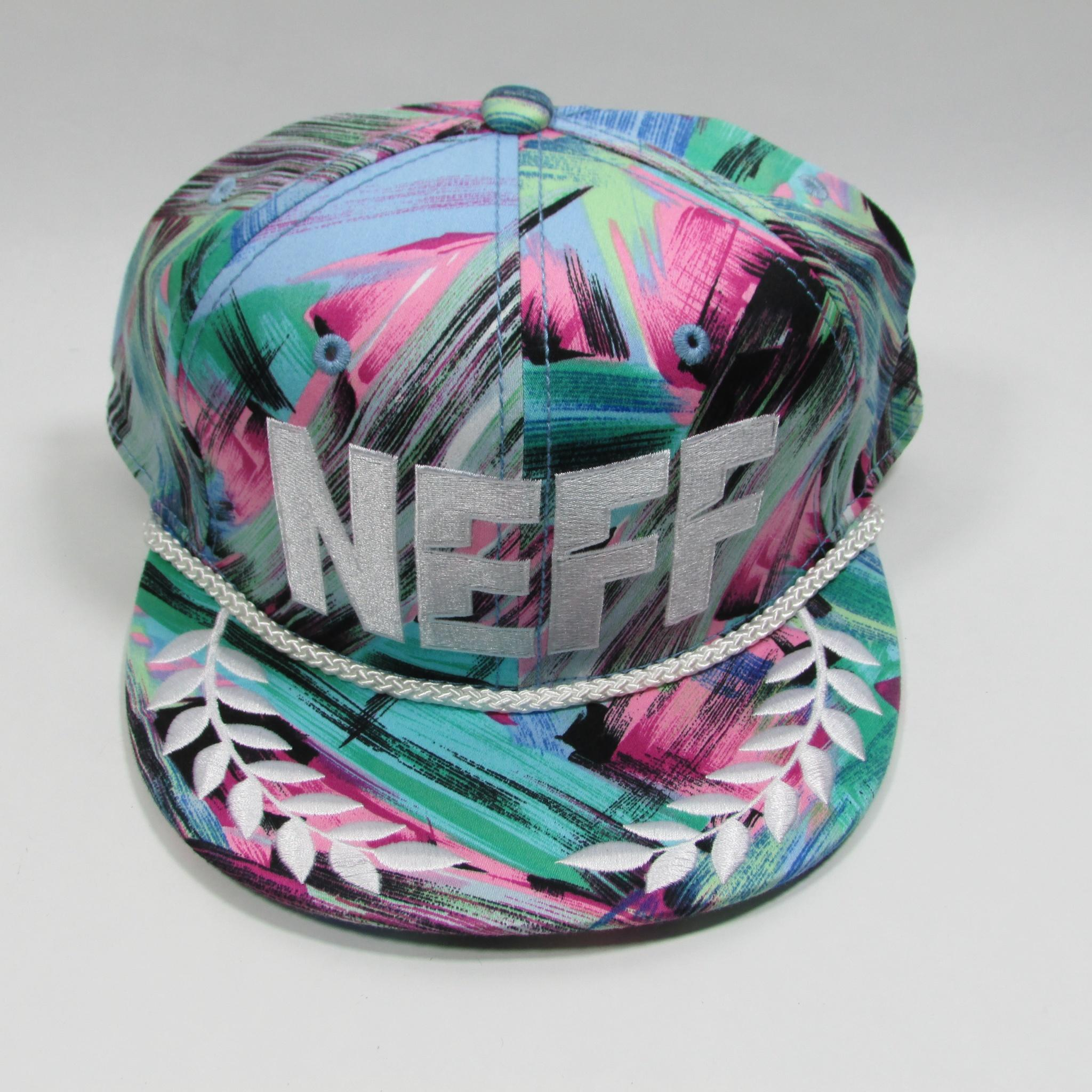 NEFF Big Logo Floral Hawaiian Twill Snapback Hat