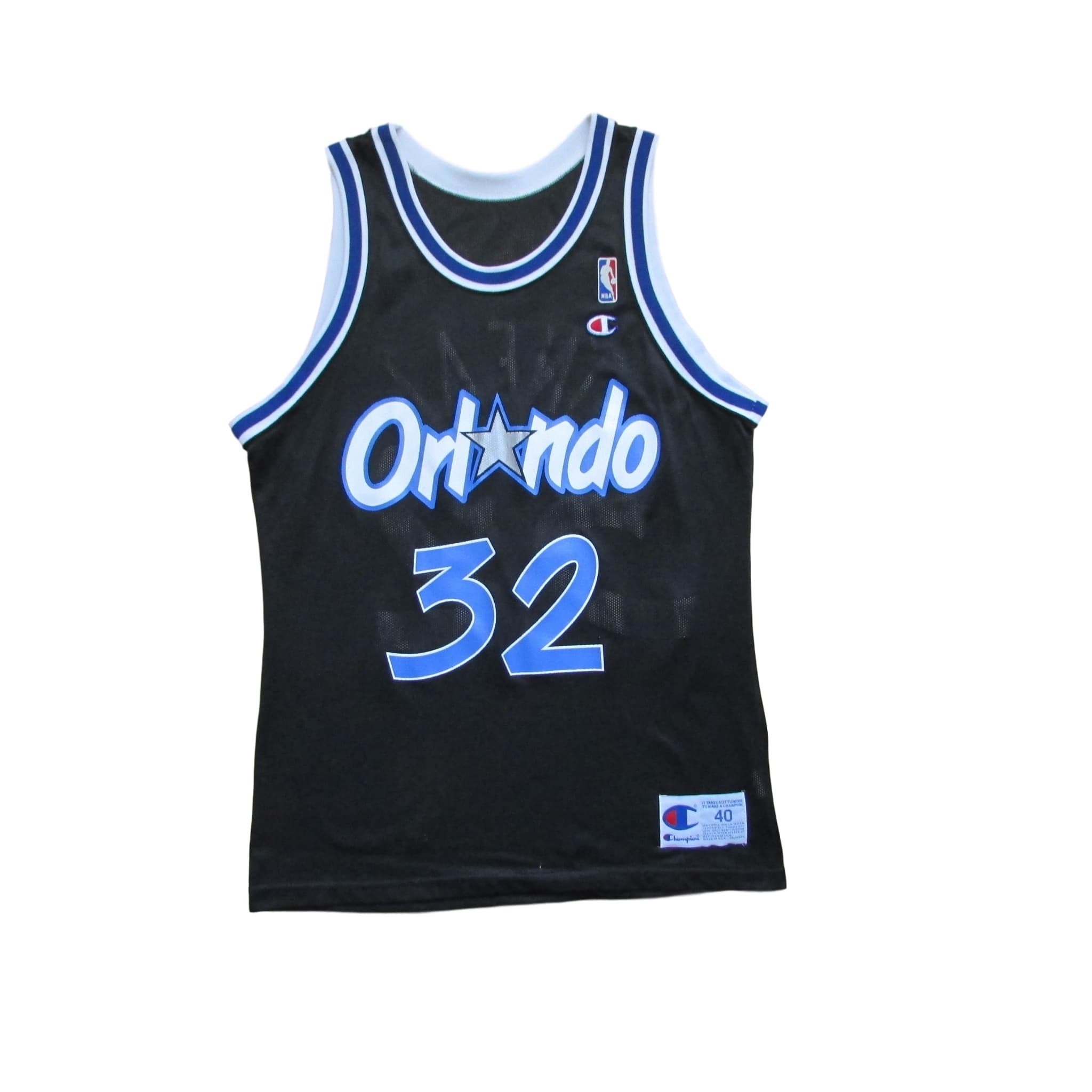 Orlando Magic Shaquille O'Neal Basketball Jersey 1993 Champion Sz 40