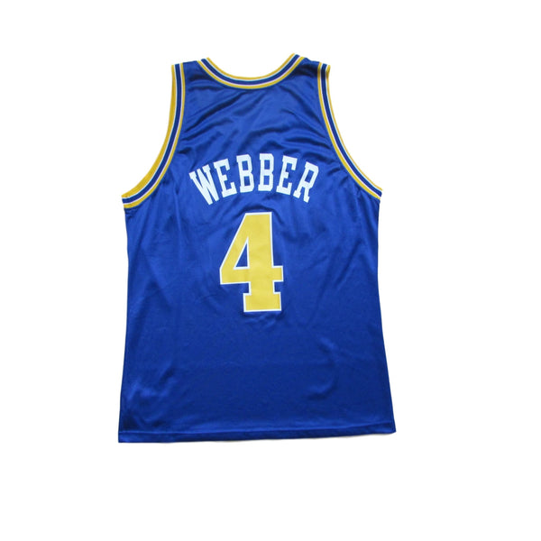 Golden State Warriors Chris Webber Basketball Jersey 1994 Champion Sz 44