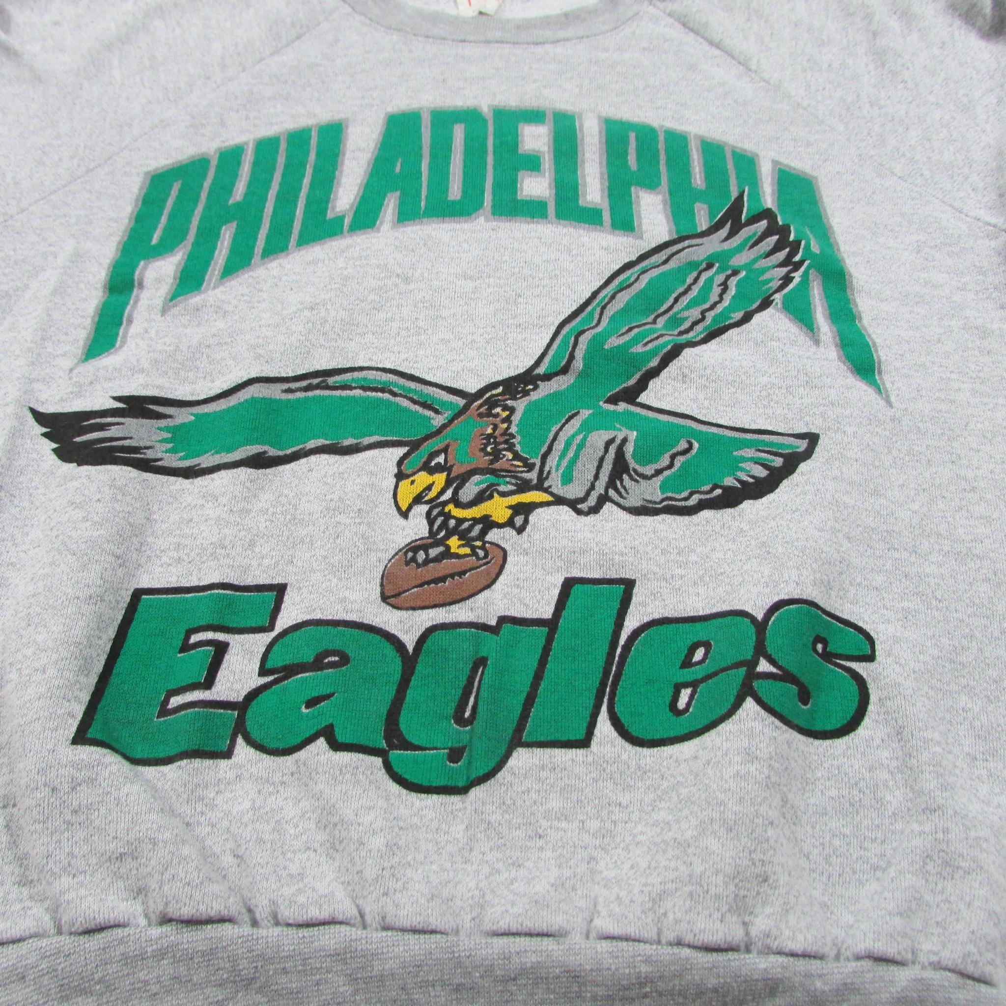 Philadelphia Eagles Lightweight Vintage Football Crewneck Sweater Sz L