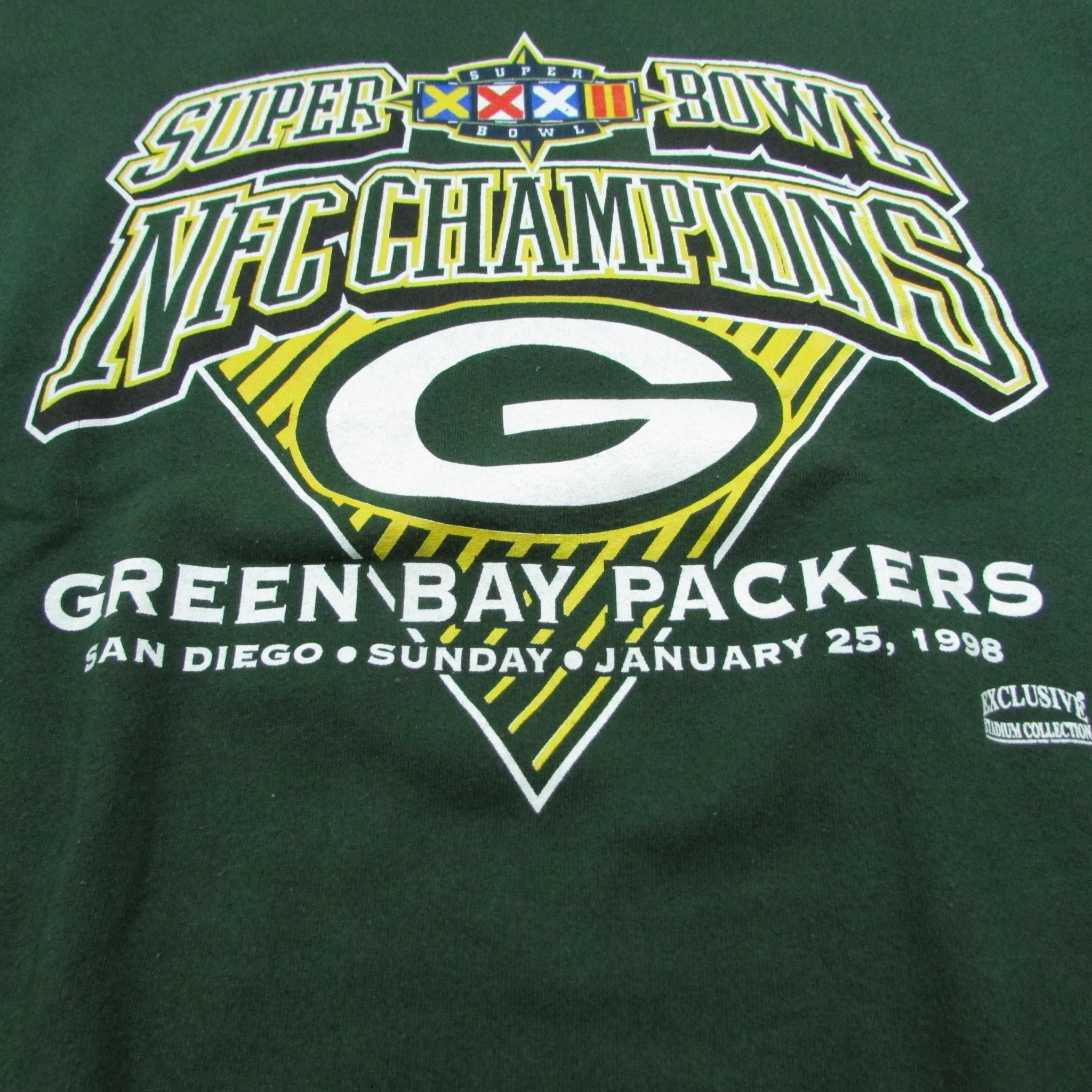 Green Bay Packers 1998 NFC Champions Football Sweater TULTEX Sz XL