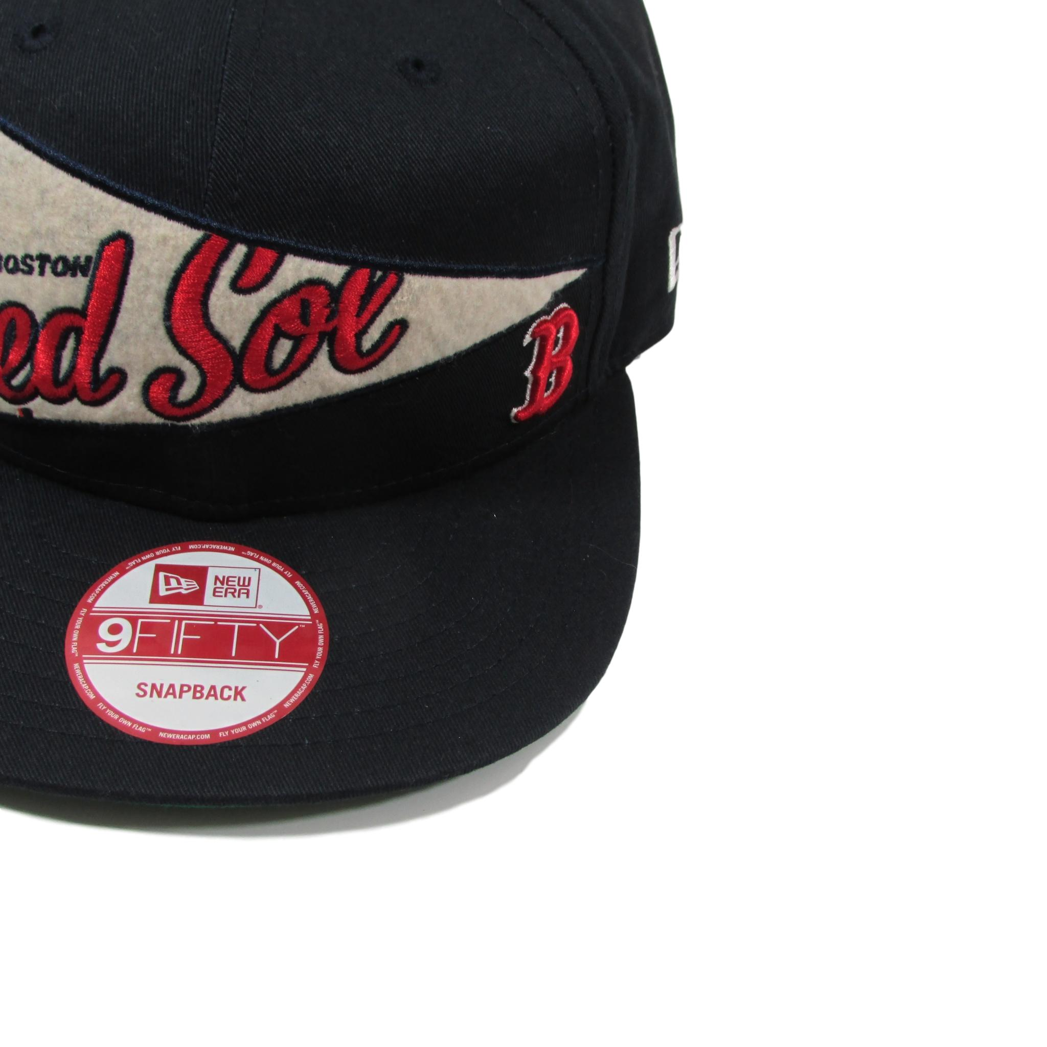 Boston Red Sox Baseball Snapback Hat Pennant Banner Style New Era