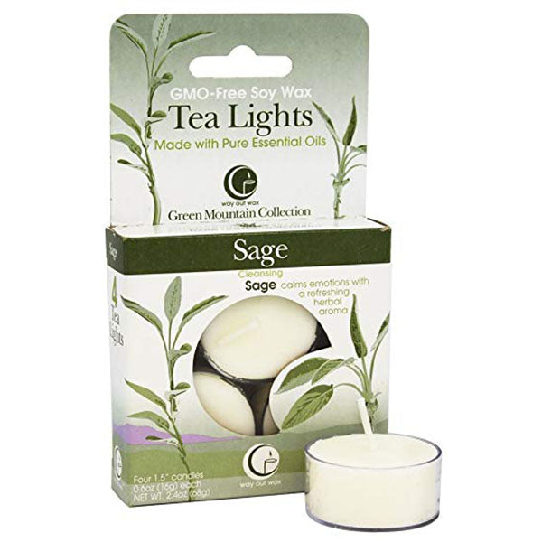 Sage - Tealight Candle 4-pack