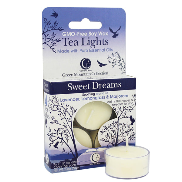 Sweet Dreams - Tealight Candle 4-pack