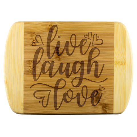Live Laugh Love Bamboo Cutting Board