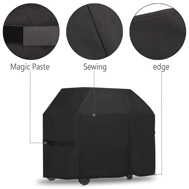 "Onlyfire 52-inch Grill Cover Fits for Weber Genesis II and Genesis II LX 200 Series Gas Gill Char-Broil Nexgrill Brinkmann and More(52""L25""W44.5""H)"