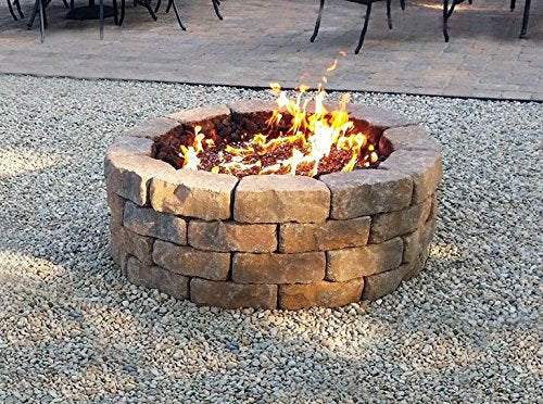 Onlyfire 30-inch Stainless Steel Round Fire Pit Burner Ring, Tripple Ring