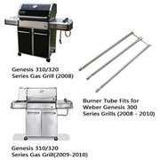 "Stainless Steel Burner Tube Set Fits for Weber Genesis 300 Series Grills (2008-2010), 34-1/4"" Long"
