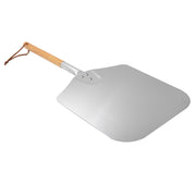 "Large Aluminum Pizza Peel with Wooden Handle For Any Pizza Grill Oven, 12"" x 14"""