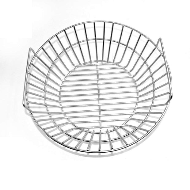 Stainless Steel Charcoal Ash Basket Fits for Large BGE, Kamado Joe Classic