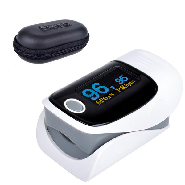 ELERA Finger Pulse Oximeter Fingertip Monitor With Alarm Setting & Case