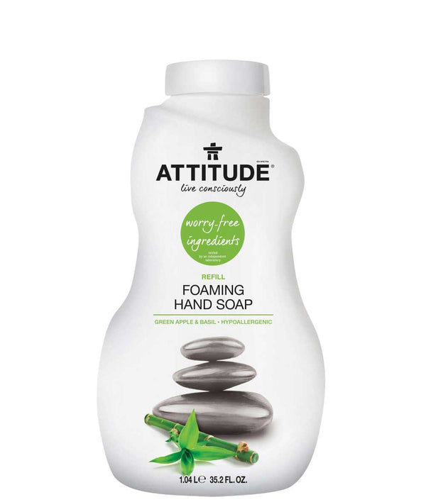 14014 ATTITUDE Foaming Hand Soap Refill - Hypoallergenic  - Green apple & basil _en?_main?