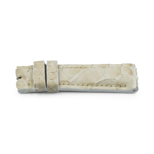 Cream Python Leather - Matte