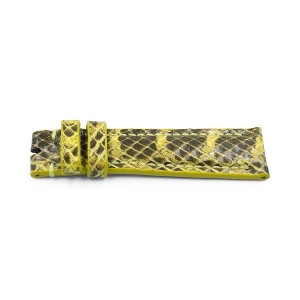Yellow Python Leather - Gloss