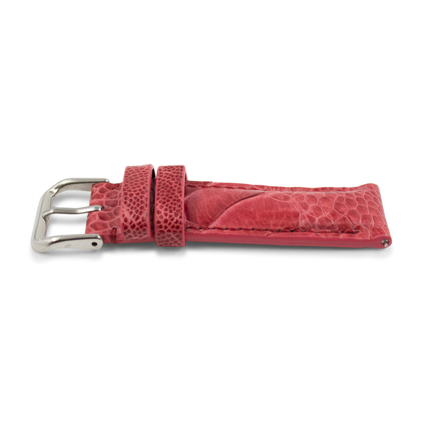Light Red Ostrich Leather - Gloss