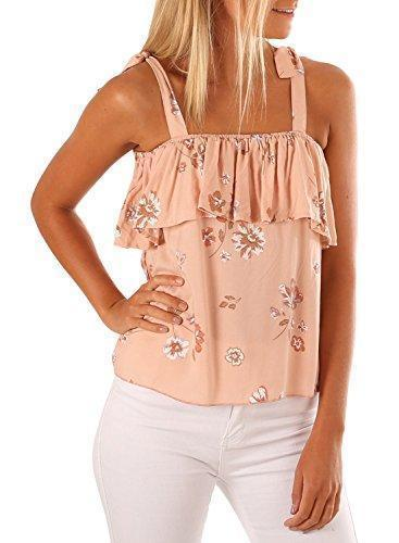 Floral Printed Ruffle Sleeveless Tank Top