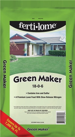 Fertilome Green Maker 18-0-6 (30 lbs)