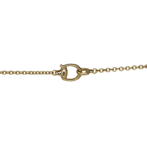 Gucci Garnet and Brown Quartz Long Chain Horsebit Necklace 18k Yellow Gold