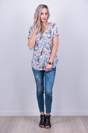 Grey Tucan Vienna Top from White Chalk