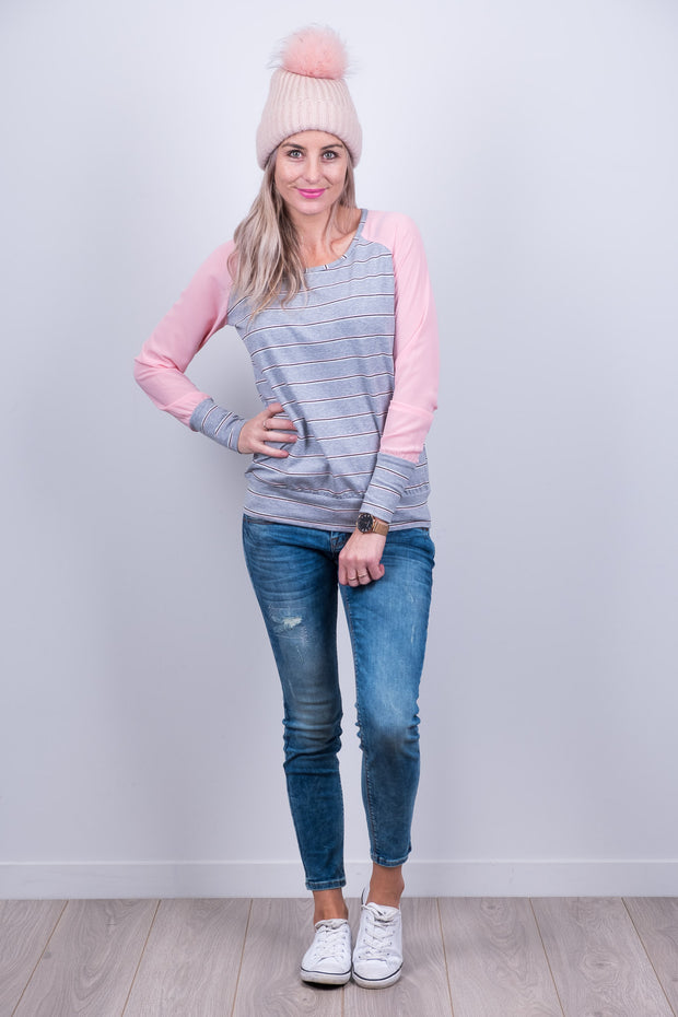 Argentina Top - Soft Pink Sleeve