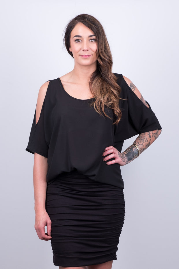 Beaut Cold Shoulder Top from White Chalk Ltd