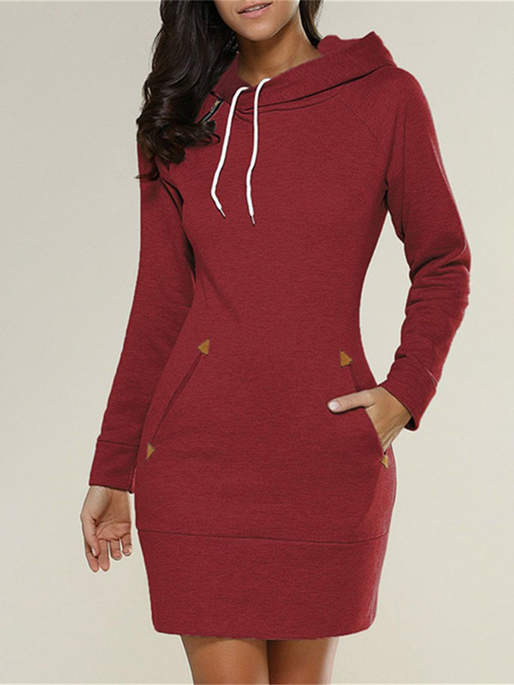 Hoodie Casual Pockets Bodycon Dresses