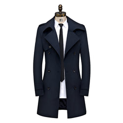 Spring Thin British Double-Breasted Coat