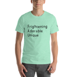 Frightening Adorable Unique in Black Text (Mens), Apparel - Team Manticore
