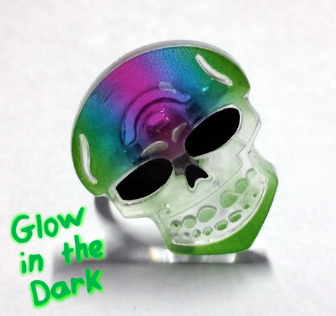 Colorful Glowing Skull Rings, Jewelry - Team Manticore