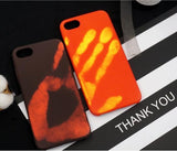New Hand Thermal Sensor Case For phone 7 6 6S Plus Fundas Funny Physical thermal discoloration Phone Cases Soft Silicone Cover