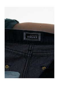 Vintage High wast  Versace Young Jeans in black  Size UK 8