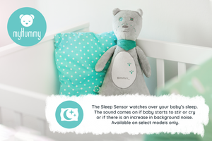 Baby Soother Teddy Bear by myHummy - Plush Sound Machine with 5 White Noise Sound Options