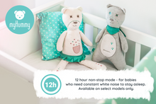 Load image into Gallery viewer, Baby Soother Teddy Bear by myHummy - Plush Sound Machine with 5 White Noise Sound Options