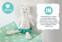 Load image into Gallery viewer, myHummy Baby Soother Teddy Bear Plush Sound Machine with 5 White Noise Sound Options