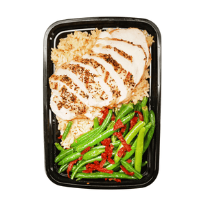 Chicken and brown rice dinner box