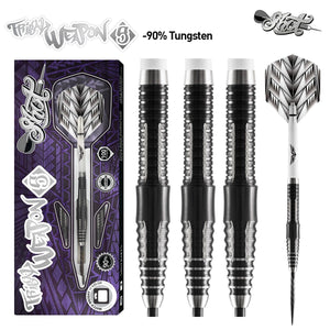 Tribal Weapon 5-Steel Tip Dart Set-90% Tungsten - shot-darts