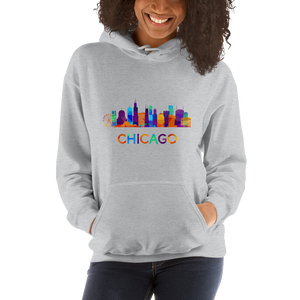 Chicago Hoodie Colorful Skyline