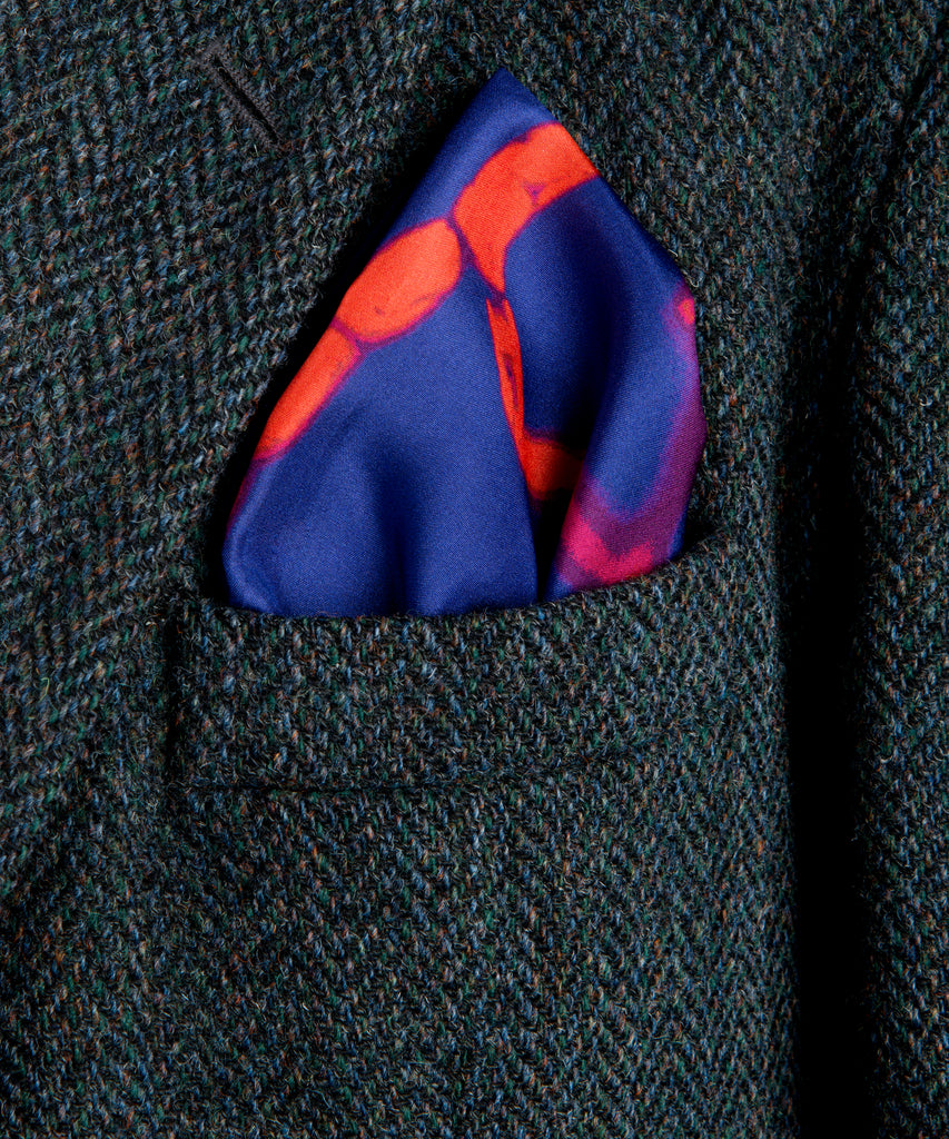Freedom Blue Silk Pocket Square