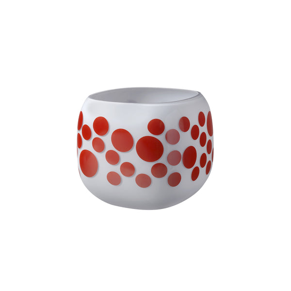Mono Box Vase Iris Apfel Red Dotted
