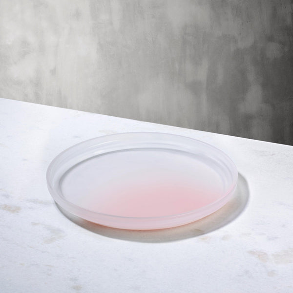 Pigmento@Serving Dish 22 cm Pink Sprayed