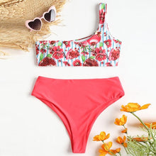 Load image into Gallery viewer, Fruity One Shoulder Bikini Set-An Eternal Summer