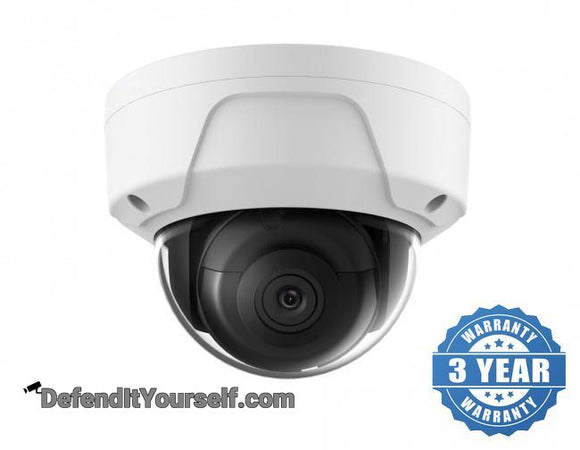 Hikvision OEM DarkFighter 3 Megapixel Vandal Proof Dome IP CCTV Security Camera - DefendItYourself.com IP Camera